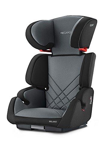 RECARO Milano Seatfix - Silla de coche, grupo 2/3, color carbon black