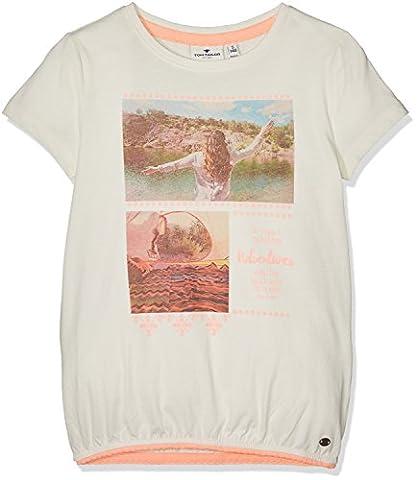 TOM TAILOR Kids Mädchen T-Shirt Tee with Lace Elastic Tape, Beige (Soft Light Beige 8587), 176