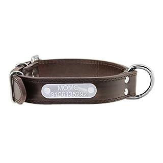 Hundehalsband Personalisierte Halsband Hundemake Leder bedruckt mit Namen und Telefonnummer