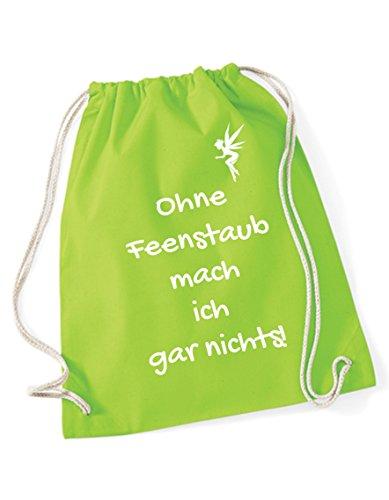 Ohne Feenstaub Turnbeutel bedruckt mit Sprüchen / Rucksack / Sportbeutel / Gymsack mit Spruch von 3...