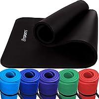 ScSPORTS Gymnastikmatte - Suelo de gimnasio, color Negro, talla 190 x 80 x 1.5 cm