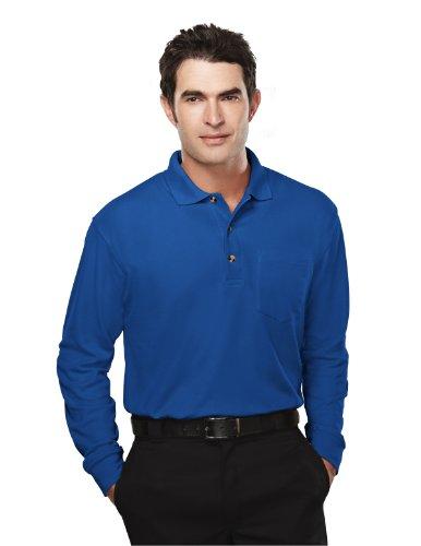 Tri-Mountain Herren Polycotton Spartan Pique Knit Golf Shirt, Herren, Königsblau, Small -