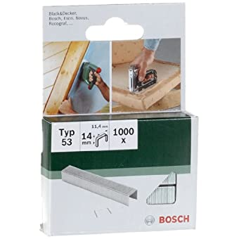Bosch 2609255823 Agrafe 11,4 x 0,74 x 14 mm Type 53 Lot de 1000
