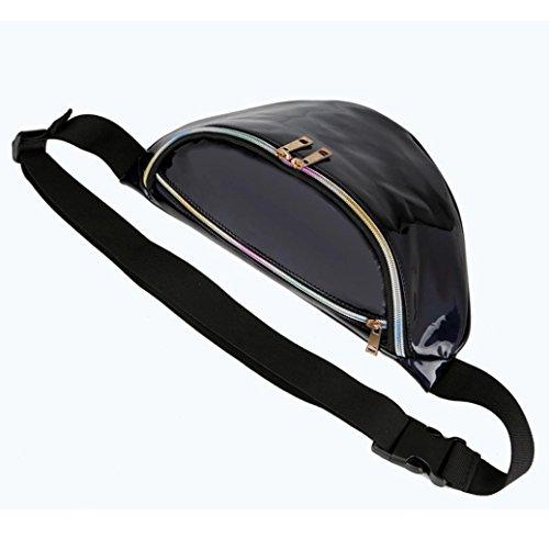 Unisex Bag, Borsa Vita Pacchi Uomini Donne Soldi Vita Borse Cintura Pacco Sport Borsa Borsa by Kangrunmy Nero