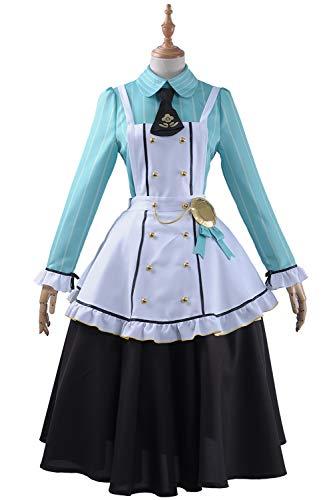 Live Love Kostüm Kotori - Cosplayfly Love Live Kotori Minami Nette Frauen Anime Cosplay,Damen Französisch Schürze Dienstmädchen Kostüm für Karneval Fasching Halloween