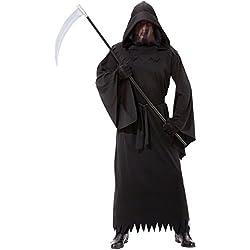 Christy - Disfraz fantasma de la oscuridad para hombres, disfraz de la muerte
