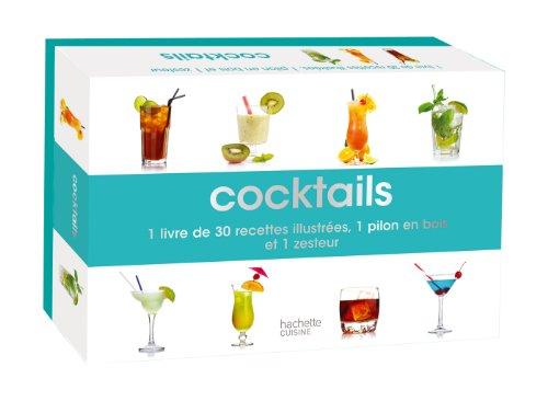 Cocktails : 1 livre de 30 recettes illustrées, 1 pilon en bois et 1 zesteur