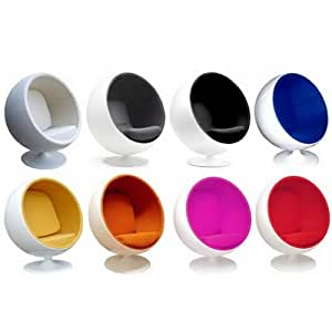 Uk 068 colour ball chair contemporary designer retro pod Egg pod ball chair
