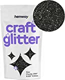 "Hemway Craft glitter 100g Chunky 1/101,6cm 0,1cm 0.6mm, Nero, CHUNKY 1/40"" 0.025"" 0.6MM"