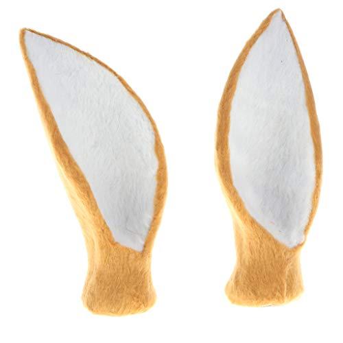 ulierte Faux Deer Ear Modell Home Decoration Collectibles Khaki ()