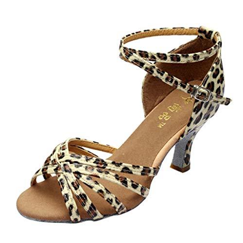 Donna scarpe da ballo, zarupeng bambine raso scarpe da ballo latino/standard ballroom sala da ballo scarpe - latino americano - bambine - ragazze - ballroom(beige,41 eu)