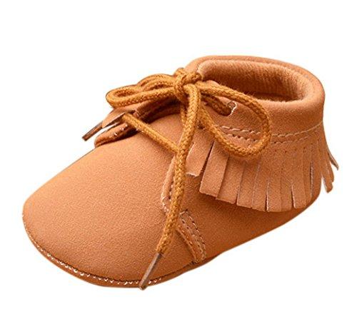 15a1fe22b26c8 Happy Cherry Mode Chaussures Premier Pas Bébé Fille Garçon Marche en Cuir  Artificiel Mixte Frange à