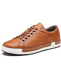 Zapatos de Cordones para Hombre Conducción Zapatillas Cuero Casual Shoes Attività Commerciale Sneakers Negro Gris Marrón Amarillo 38-46