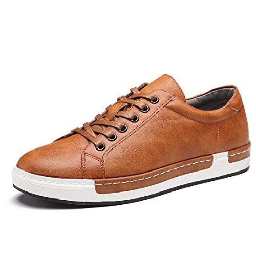 NEOKER Uomo Scarpe da Skateboard Sportive Corsa Sneakers Ginnastica Outdoor Multisport Shoes Giallo 42