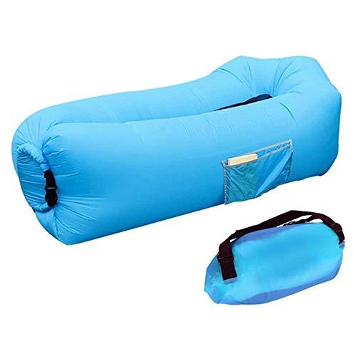 duhe189014 Aufblasbare Liege Sofa tragbar Keine Pumpe erforderlich Schnell aufblasbar Luftbett Outdoor Strand Möbel für Reisen Pool Camping Urlaub Sonne Baden