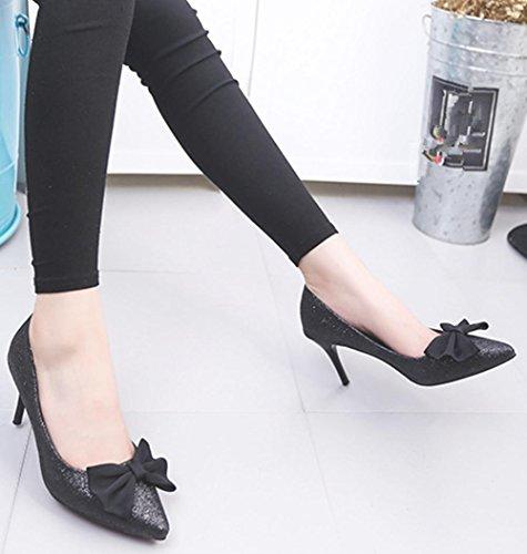 YMXJB En Europe, avec souliers pour dames des arc talons chaussures Black