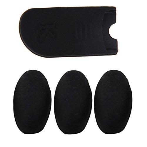 sharplace [Set 4pcs] Daumenauflage Kissen Finger Displayschutz aus Gummi schwarz für Altsaxophon Tenor