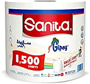 Sanita Gipsy 1500 Sheets Maxi Tissue Roll