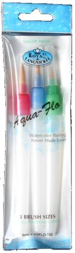 Aqua Flo Brush Set-3/Pkg