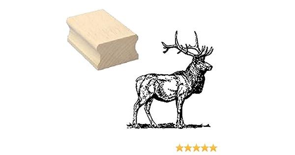 Stempel Holzstempel Motivstempel /« REHBOCK /» Scrapbooking Embossing Kinderstempel Tierstempel J/äger Jagd jagen F/örster Forst Reh
