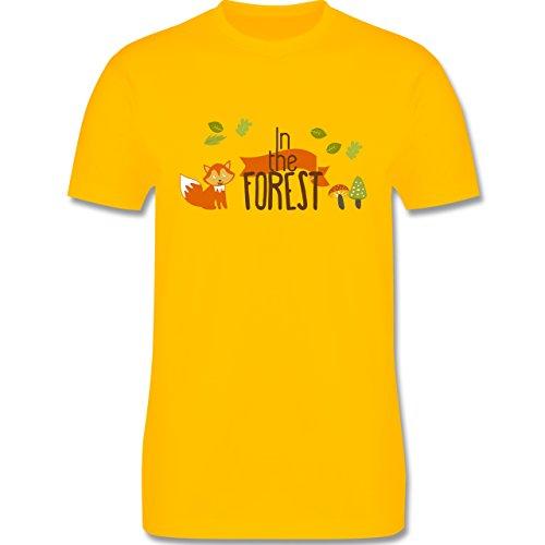 Wildnis - In the Forest Wald Fuchs - Herren Premium T-Shirt Gelb
