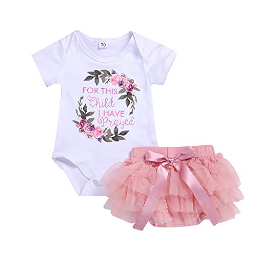 6f11c14ed Mounter Bébé Fille Vêtements Bébé Fille Ensembles Jupe Et Haut, Floral  Lettre Body Barboteuse+ Robe