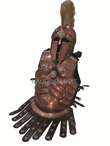 Halloween-Kostüm Mittelalter Stahl CUIRASS Geschirr mit Korinthischer Helm -