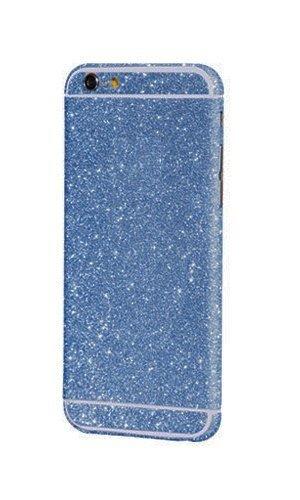 iPhone 6 / 6S Glitzerfolie Folie 4.7 Glitzer Hülle Skin Bling Diamond Glitzern Handyskin zum Aufkleben (Blau)