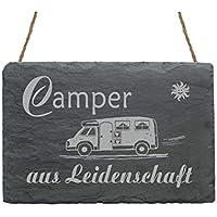 Wohnwagen Wohnmobil Kissen Kissenbezug Happy Camper 40x40cm Camping