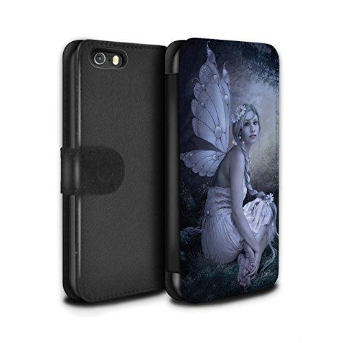 Offiziell Elena Dudina PU-Leder Hülle/Case/Tasche/Cover für Apple iPhone X/10 / Fee von das Land Muster / Elegante Feen Kollektion Fee von das Land