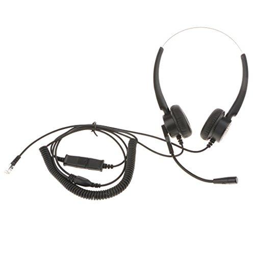 H HILABEE Kundendienst Telefon Kopfhörer Binauraler Kopfhörer Mit Mikrofon Für Schreibtischtelefon