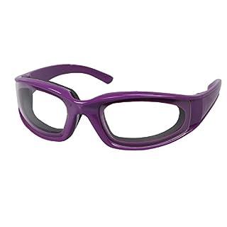 ANGGO Küche Zubehör Schutzbrille Winddichte Staubdicht Zwiebel-Brille Zwiebelbrille Schutzbrille Augen Protector Gesichtsschutz Küchenwerkzeuge (Lila)