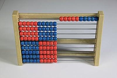 """'100' It, Abacus, Student's Abacus Calculation Frame Red/Blue System K?hnel"""" from Handelsagentur Sieboldt"""