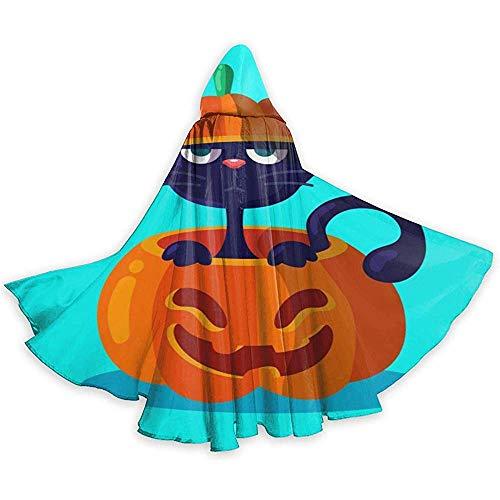 BYME Erwachsenen Mantel Unisex Halloween Kostüm lustiger Kürbis und Katze Cosplay - Lustige Katze Kostüm Für Erwachsene