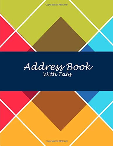 Address Book with Tabs: Art Triangle, 8.5