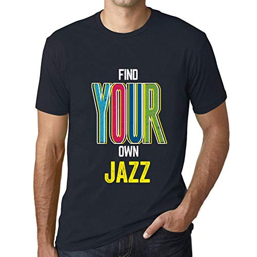 Hombre Camiseta Vintage T-Shirt Gráfico Find Your Own Jazz Marine