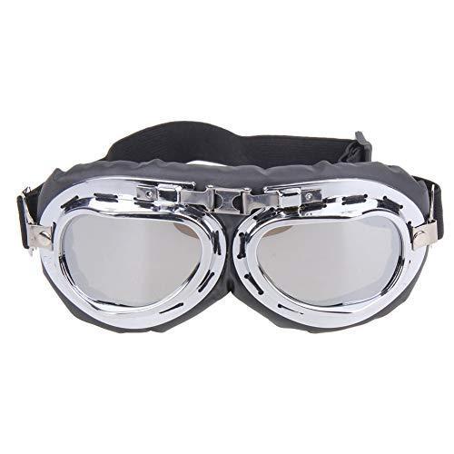 ZKAMUYLC SonnenbrilleRadfahren Brillen Retro Motorrad Brille Brille Motocross Brille Für Harley für Motorrad 4 Farben Fahrrad Zubehör