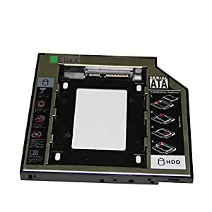 EiioX 2.HDD Caddy Adapter SATA Festplatte für 9,5mm universal CD/DVD-Rom Acer Benq Hp Dell Asus