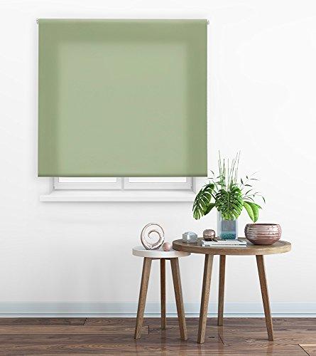 HappyStor Clear Estor Enrollable A Medida Tejido Liso Traslúcido 116-Verde Pastel Medida Total Estor: 110x175 (**Solo Ancho Tela:106-107cm.**)