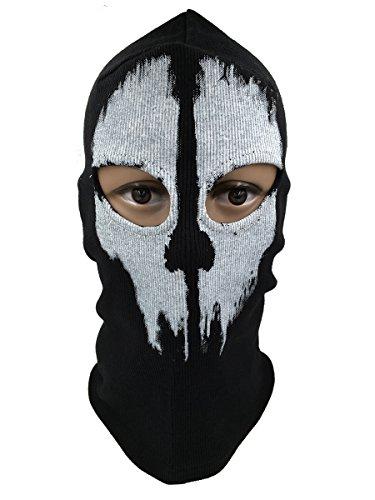 BOODUN Military Maske Paint Skull Gestrickte Baumwolle Ghost Logan Vollmaske für Halloween Cosplay (Pariser Kostüm Party)