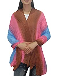 Womens Comfortable & Super-Soft Mesh Ruffled Neck Scarf / Shawl /Wrap