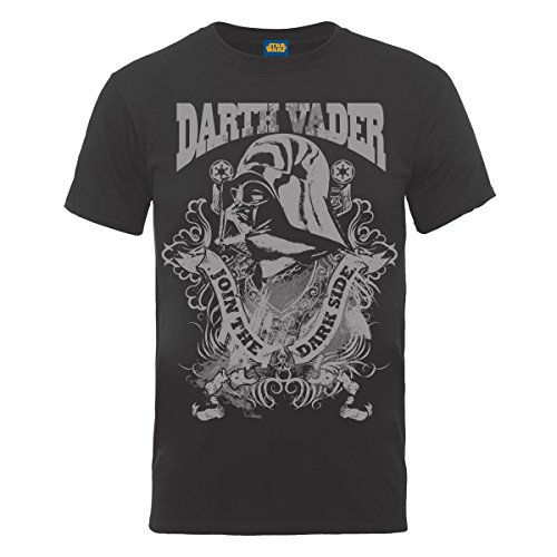 Star Wars - T-shirt, Uomo, Grigio (Grey (Charcoal)), M