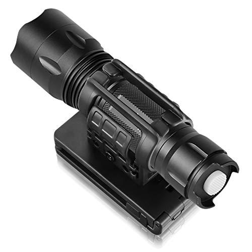 efluky Taktische Taschenlampenhalter Baton Tasche mit verstellbarem Paddel und Stretch-Funktion, Polymer-Beutel, Pfeffer-Sprayhalter für Gürtelbefestigung mit ± 30 Grad drehbar, Schwarz