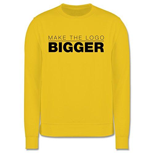 Designer - Make The Logo Bigger - Grafiker - Herren Premium Pullover Gelb