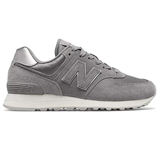 New Balance Damen 574 Sateen Tab Sneaker, Grau (Grey Ms), 39 EU (Frauen Schuhe New Balance)