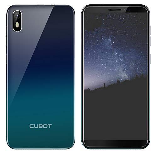 CUBOT J5 Doble SIM Smartphone 5,5 Pulgadas (13,97cm) Pantalla Táctil Capacitiva,Android 9.0 Operativo,2GRAM+16GROM,2800mAhBatería,Procesador Cuatro Núcleos,Identificación de Cara(Gradiente)