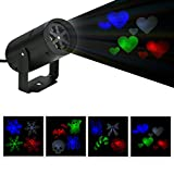 BLOOMWIN Skull Fairy Lights Rotating Night Light Projector Disco Lights Holiday Party Decoration
