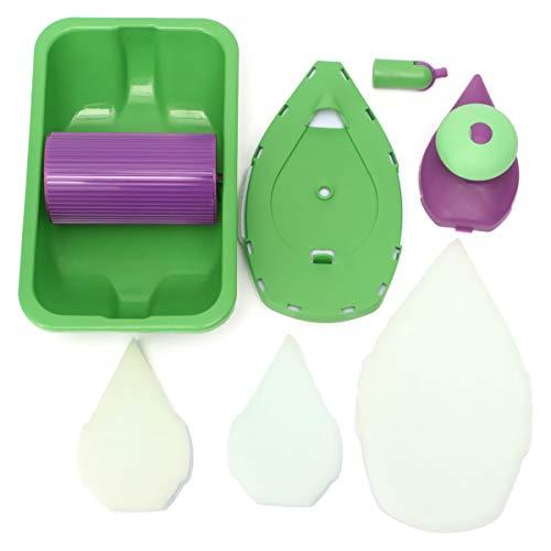 DADEQISH DIY Home Malerei Pad Kit Roller Pinsel Tray Paint Roller Kit Malerei Roller Tray Pinsel Werkzeugzubehör - Paint Roller Kit