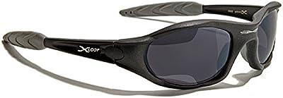 Xloop Gafas de Sol - Deporte - Mtb - Esquí - Moda - Moto - Running - Ciclismo - Kitesurf - Pesca / Mod 2044 Negro Mate