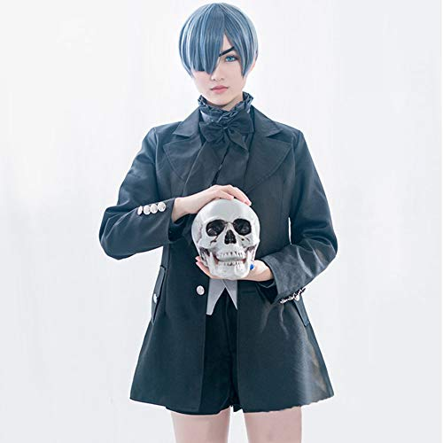 Hzd Black Butler Ciel Phantomhive Cosplay Kostüm Sechsteiliges Set,Woman,S